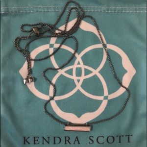 Kendra Scott Bar Necklace - White Kyocera Opal